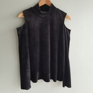 Velour cut out top